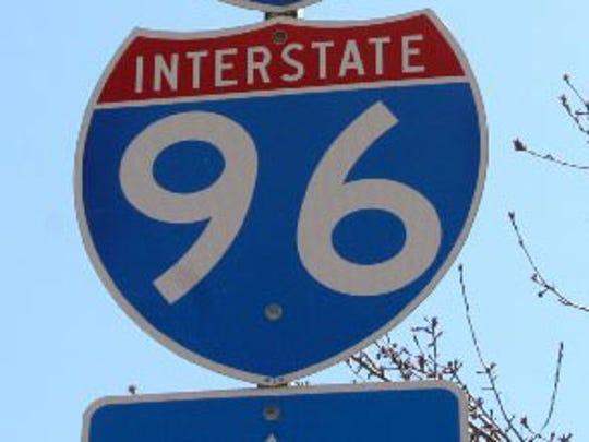 I-96 sign.