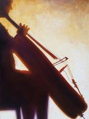 Todd Mrozinski's painting of cellist Janet Schiff is