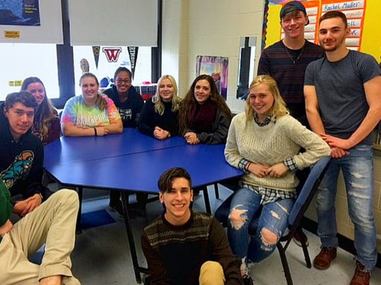 Some of the Brockport High School seniors in this year's