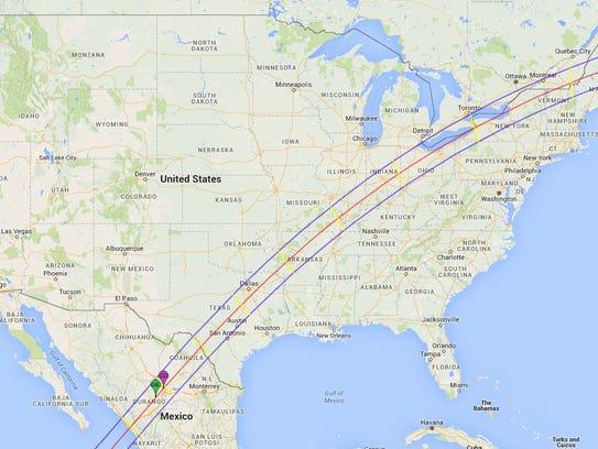 The next total solar eclipse through the contiguous