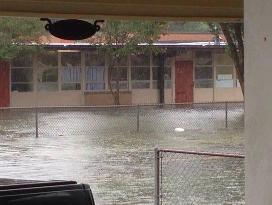 This photo shows Westside Elementary last weekend,