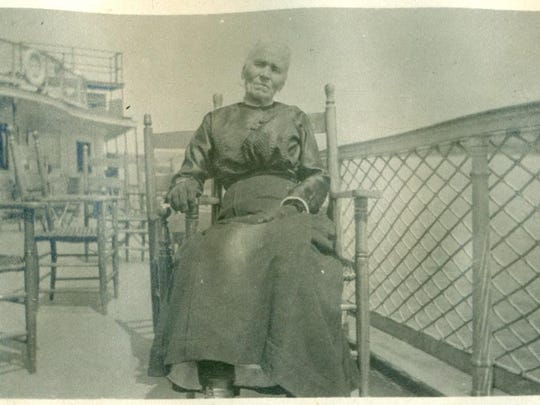 Mary Ann Cullen Martin on the Ticonderoga circa 1917. She was the great-grandmother of Martha Reeves Lang.