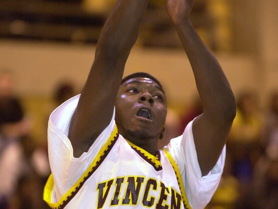 Vincent's Greg Brown takes a shot during a game Feb.
