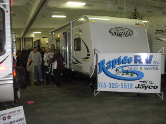 RVs and campers will be on display at the Central Wisconsin RV & Camping Show.