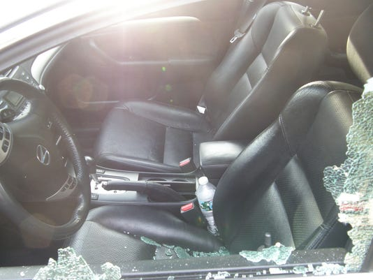 Cars damaged in Valley Cottage