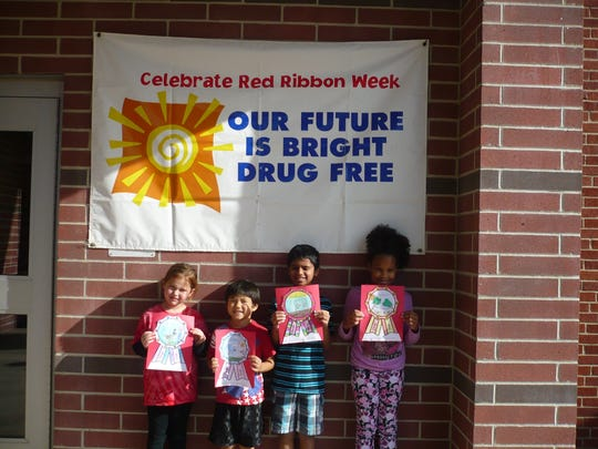 Whitehouse School held a coloring contest during National