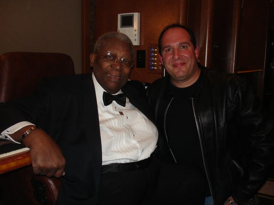 """Louder than Love"" filmmaker Tony D'Annunzio (right) with B.B. King."