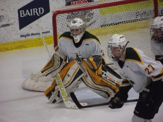 St. Norbert College freshman goalie T.J. Black made 31 saves in a 2-1 victory over Adrian College on Saturday.