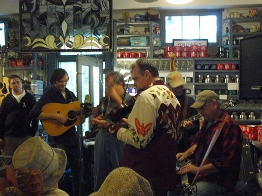 Musicians playing inside the Rabbit Hash General Store was not an uncommon site.