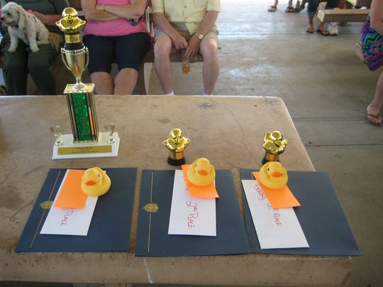 First prize winners at the ducky derby will receive