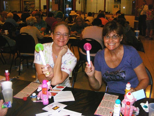 Happy bingo players ham it up earlier this year at Cape Coral's Tony Rotino Senior Center.