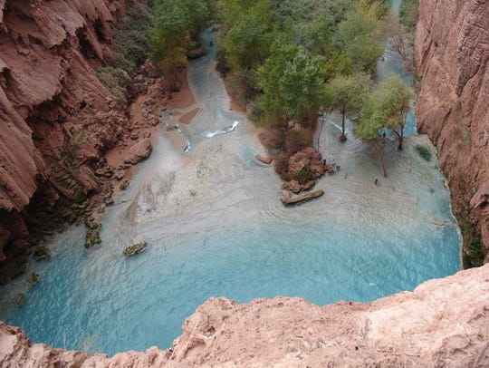 Rita Guy took this photo from atop Mooney Falls, one