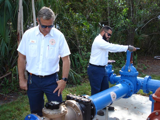 Port St. Lucie Utility Systems employees Glen Cockrell