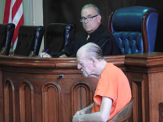 Larry McKee, 76, testifies in the trial of Lori Henry on Wednesday. McKee previously pleaded guilty to four counts of gross sexual imposition and is scheduled to be sentenced on Monday.