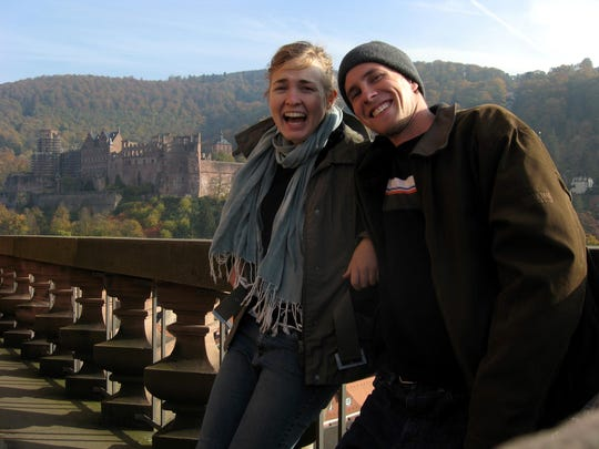 Nora Hertel and Ben Decker in Heidelberg, Germany, in fall 2007.