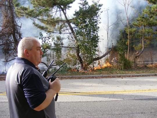 There were multiple brush fires in Glen Rock on Saturday