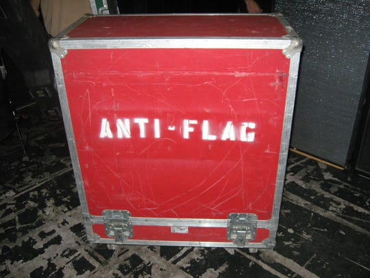 Anti-Flag roadcase at the Marquee Theatre