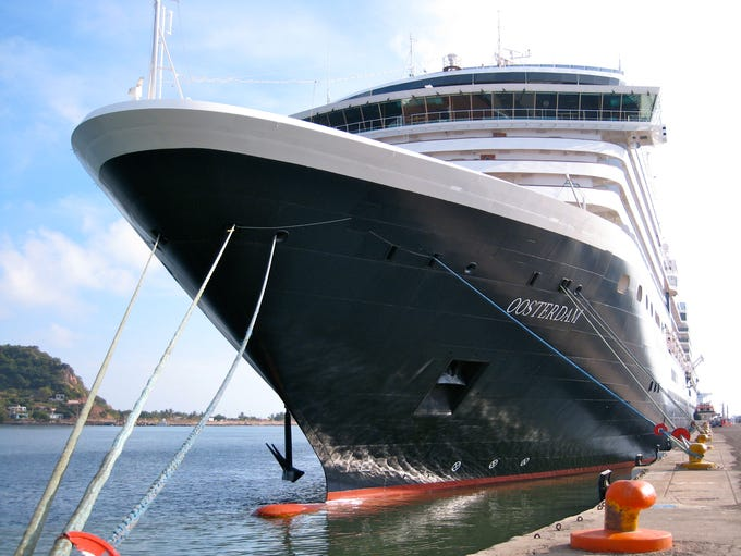 Holland America Line's 82,305-gross-ton, 2003-built