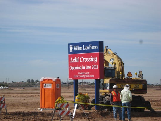 Mesa's Lehi Crossing neighborhood under construction,