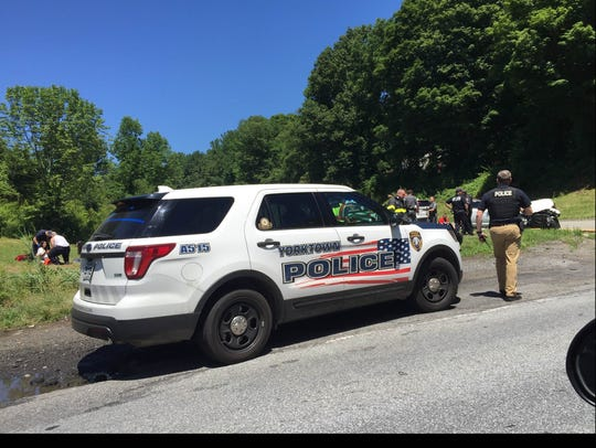 One person was injured in a two-car crash on Underhill