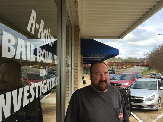 Glyn Holland is one of the few bail bondsmen to criticize Corbett Bonding, which dominates the market.