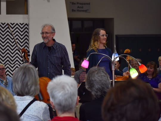 Joel Becktell and Lisa Donald, both Albuquerque cellists,