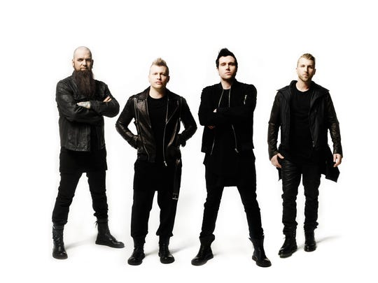 Rock band Three Days Grace will be the national headliner at the Outagamie County Fair on July 30.