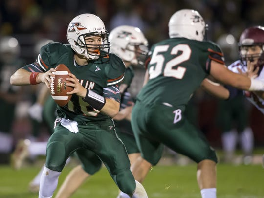Junior quarterback Lane Sobieski must get the Indians' passing offense going against a stout Plymouth defense on Friday.