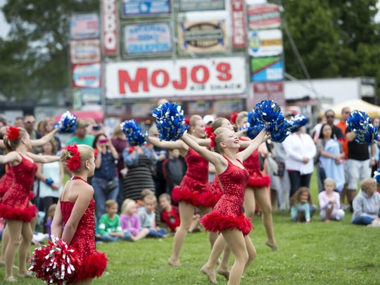Young dancers from Julie's Touch of Silver perform Saturday at Best Rib Fest at Menominee Park in Oshkosh.