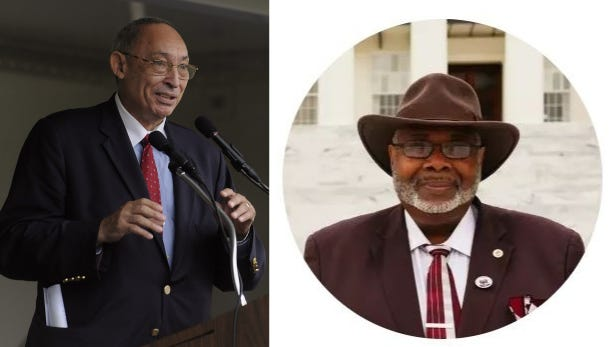 Rep. Thad McClammy, left, and D'Linell Finley, right, are running for Alabama's House District 76.