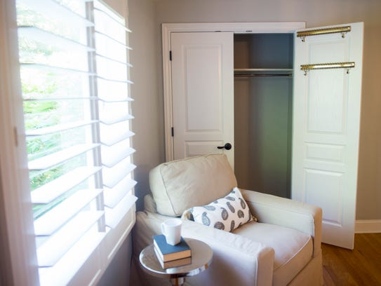 Open doors can encourage home buyers to look into closets
