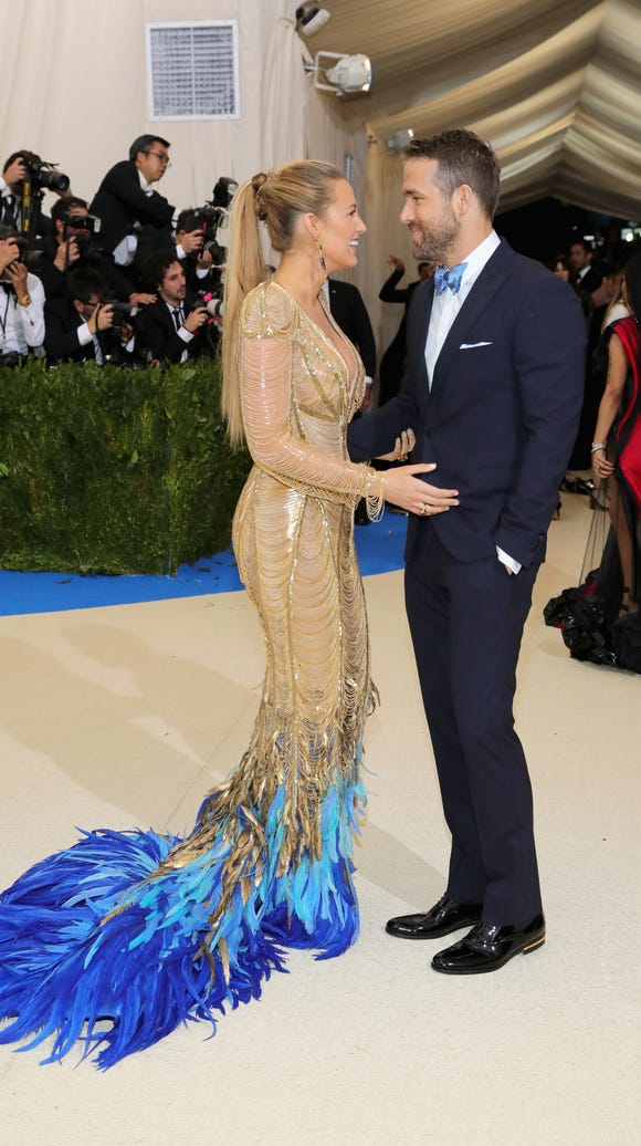 Blake Lively and Ryan Reynolds gaze into each other's