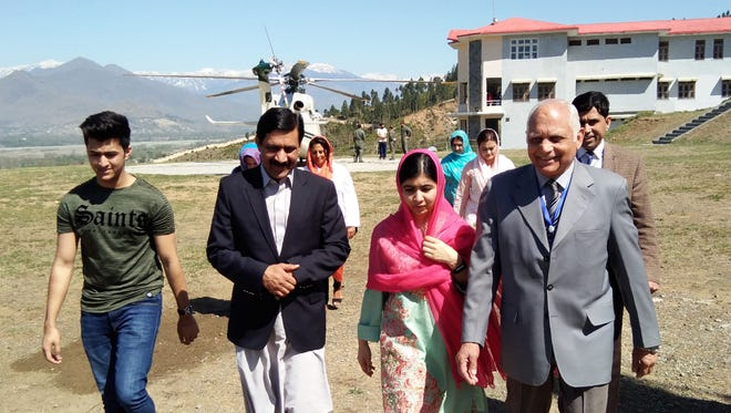 Malala Yousafzai landed in the Swat valley on March 31 for her first visit back to the once militant-infested Pakistani region where she was shot in the head by the Taliban more than five years ago.
