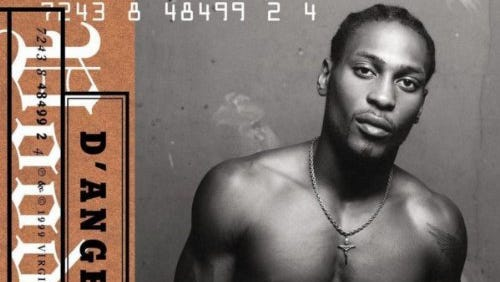 "The cover of D'Angelo's soulful masterpiece, ""Voodoo."""