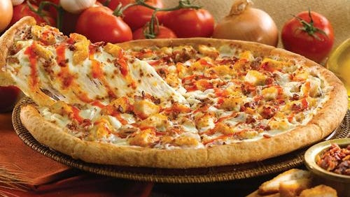 For a limited time, Papa Murphy's is offering the Buffalo Chicken Pizza.