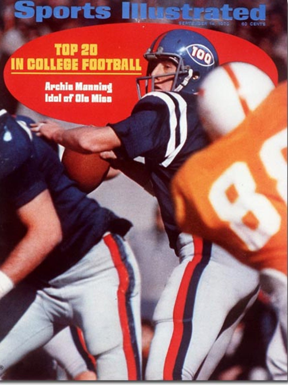 Archie Manning on the cover of a 1970 Sports Illustrated