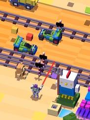 A screenshot of 'Disney Crossy Road.'