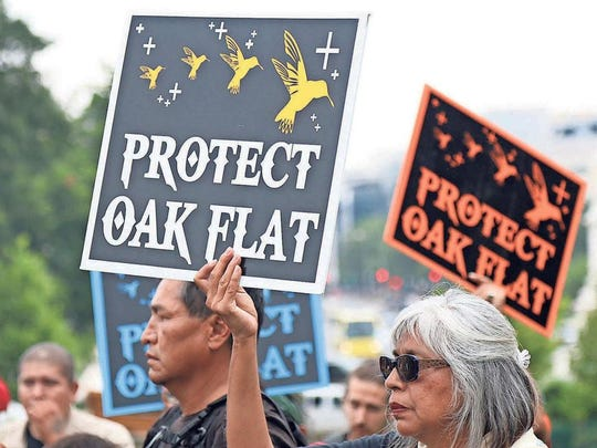 The San Carlos Apache Tribe considers Oak Flat sacred