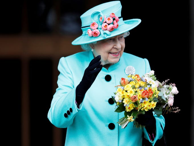 Queen Elizabeth, seen here during Easter festivities