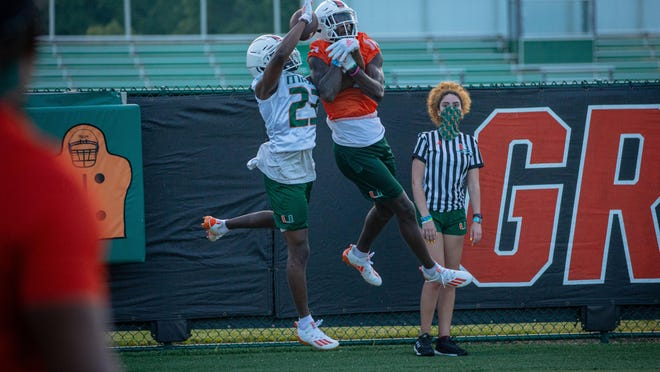 The Miami Hurricanes opened training camp Friday.
