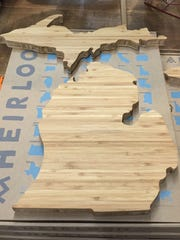 This cutting board is $48 -- it includes both of Michigan's