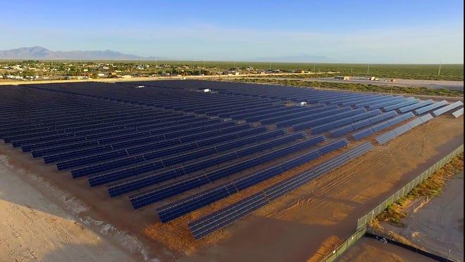 El Paso Electric's $6.7 million community solar plant in far East El Paso County began operating May 31.