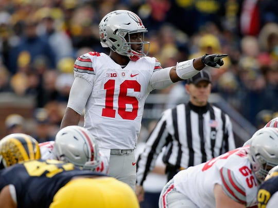 Quarterback J.T. Barrett could be competing for a national championship and the Heisman Trophy as he leads the Buckeyes offense this season.