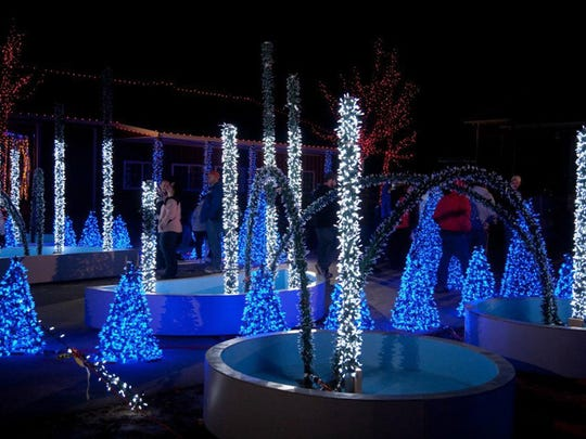 West Bend's Enchantment in the Park display features more than 500,000 lights in Regner Park.