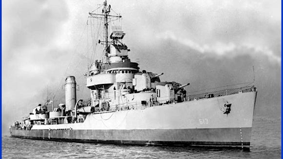 The LAUB II [DD-613] (United States Government Navy Photo)