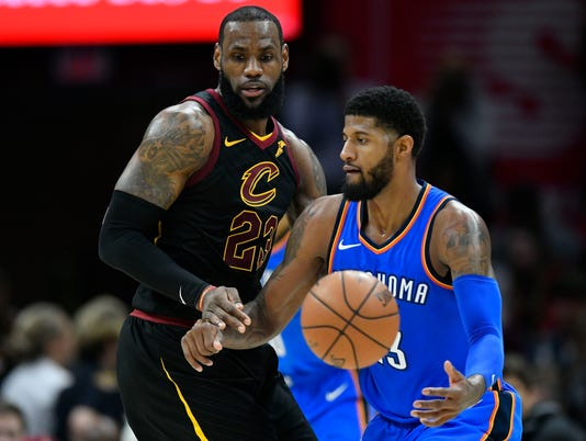NBA: Oklahoma City Thunder at Cleveland Cavaliers