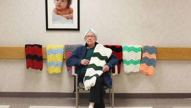 On March 30, Marcella Jones donated her 100th blanket to the McLaren Greater Lansing hospital.