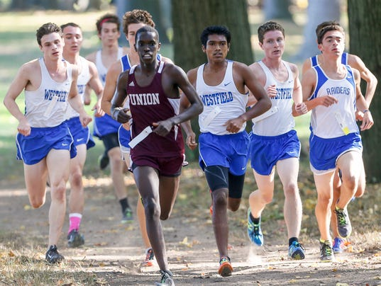 Union County cross country championships at Warinanco Park