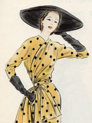 An afternoon dress featured in Vogue.