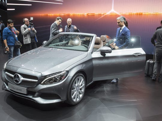 The New Mercedes C Class Cabriolet Is Shown During